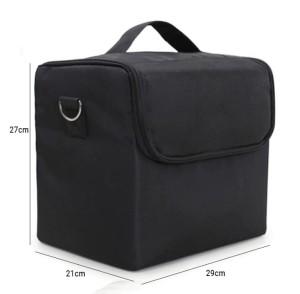 aef2788b9cf86 Kuferek czarny kosmetyczny 4 półki na lakiery hybrydowe i lampę led , super  kufer na zestaw