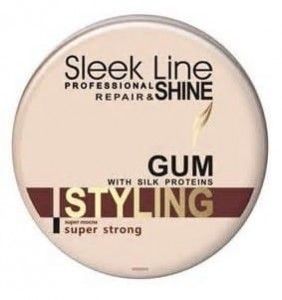 Stapiz Sleek Line super mocna guma do włosów z jedwabiem Styling Gum Super Strong 150g