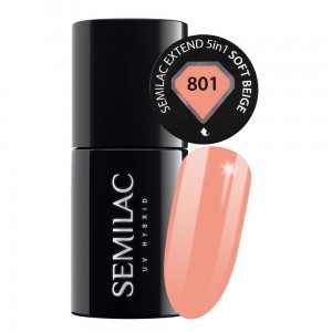 801 Semilac Extend 5in1 Soft Beige 7 ml