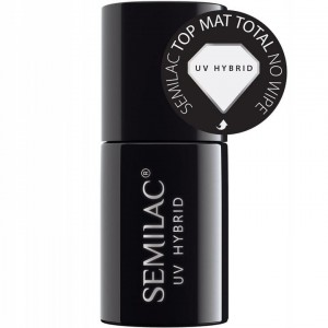 Semilac Top matowy UV Hybrid Top Mat Total No Wipe 7ml top do lakierów hybrydowych