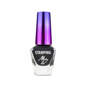 Molly Lac Lakier do stempli i stampingu 10ml Czarny Nr 2