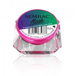 Semilac Flash Galaxy Green&Purple 664 - 0,5g