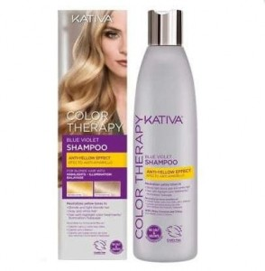 Kativa COLOR Therapy Blue Violet szampon neutralizujący kolor blond 250ml