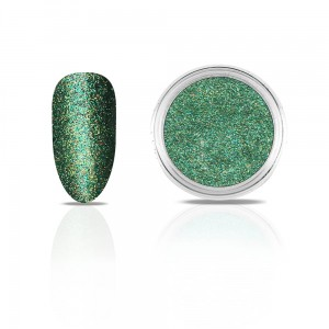 Efekt na paznokcie Metallic Diamond DEEP GREEN