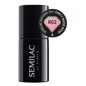Semilac 802 Extend 5in1 Dirty Nude Rose 7 ml