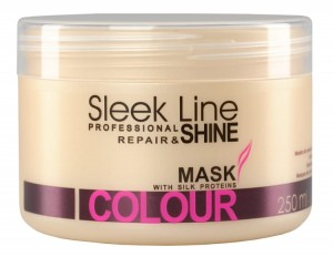 Stapiz Sleek Line maska z jedwabiem do włosów farbowanych Repair&Shine mask colour 250ml
