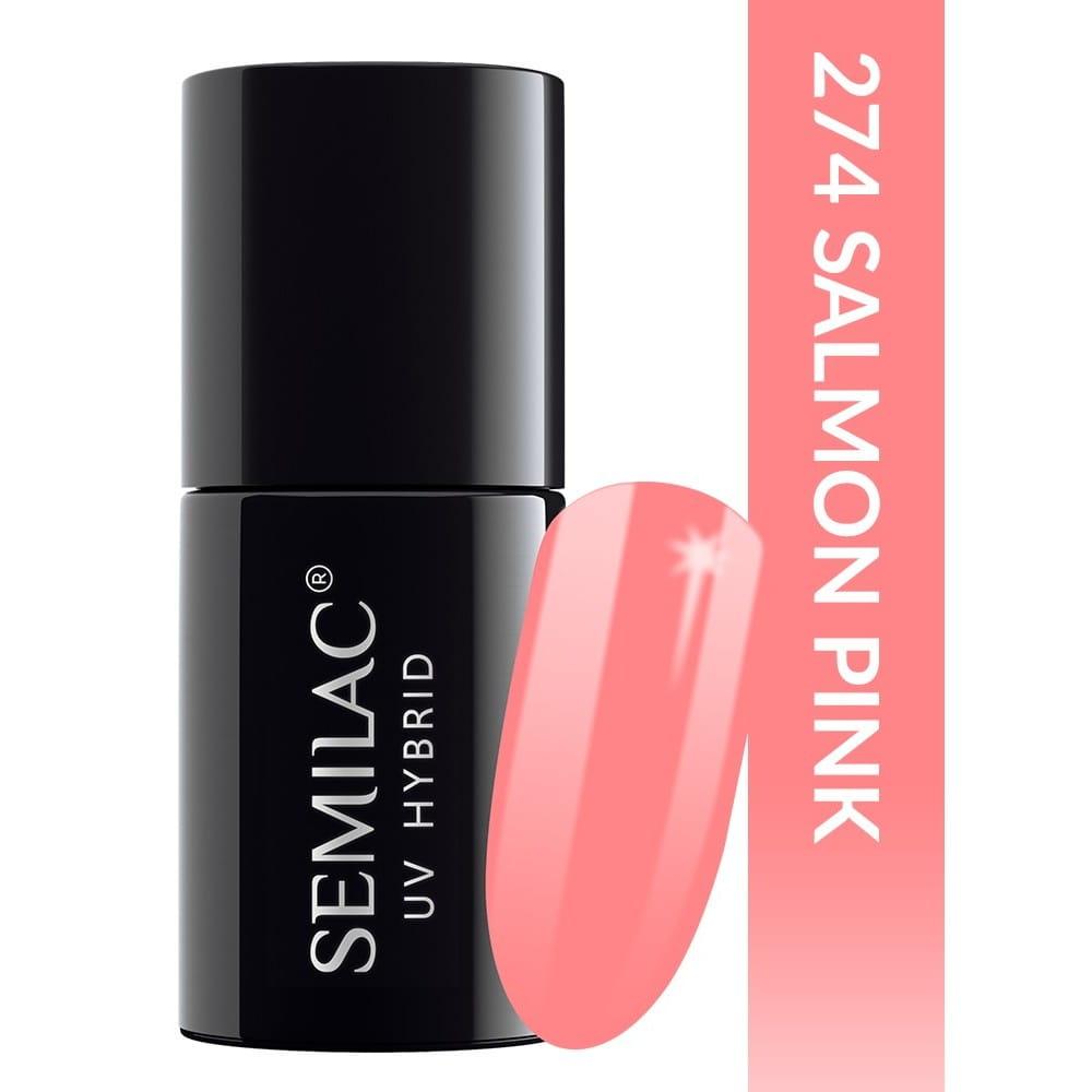 Semilac 274 Pastells Salmon Pink 7ml Kolorowy Lakier Hybrydowy