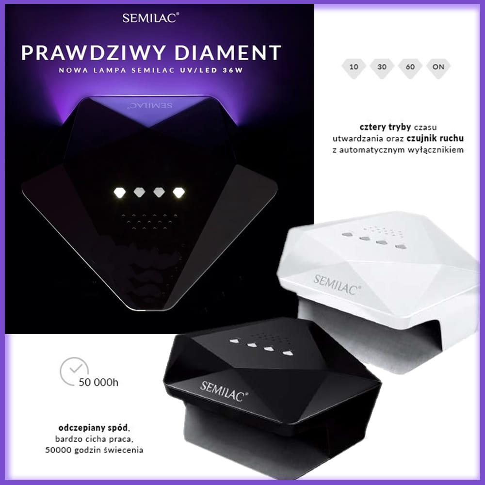 LED do Semilac Lampa Diament 36W paznokci Biała UV uOkZTiPX